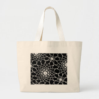 Vintage Tatted Lace Large Tote Bag