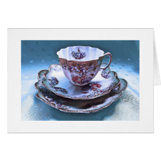 Vintage Tea Cup Photography Note Card, Fantasy Card