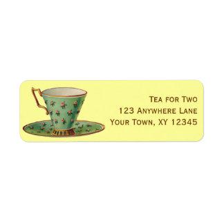 Vintage Tea Cup Return Address Label