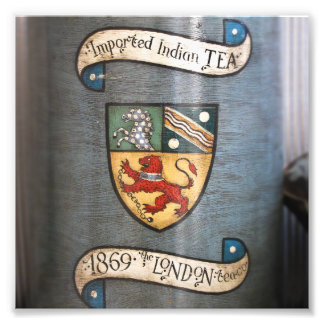 vintage tea jar coat of arms london photo print