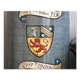 vintage tea jar coat of arms london photograph