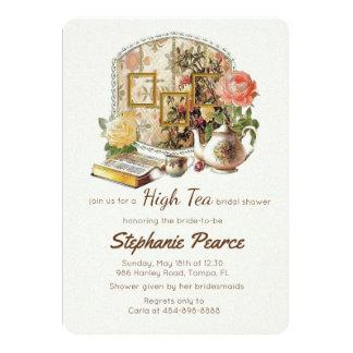 Vintage Tea Party Bridal Birthday Teacup Floral Card
