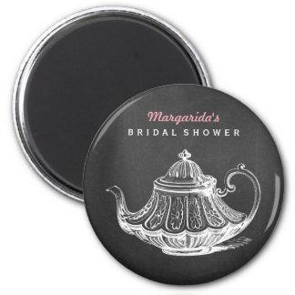 Vintage Tea Party Bridal Shower Favors Ideas Fridge Magnets