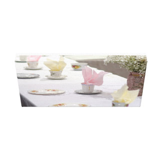 Vintage Tea Party Canvas Print