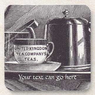 Vintage Tea Tray Drink Coasters