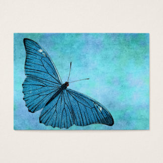 Vintage Teal Blue Butterfly 1800s Illustration Business Card