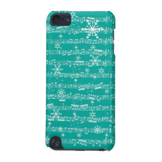 Vintage Teal Christmas Musical Sheet iPod Touch 5G Cases