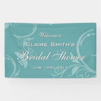 Vintage Teal Floral Welcome Bridal Shower
