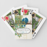 Vintage Teal Love Birds Wedding Gift Playing Card Poker Deck