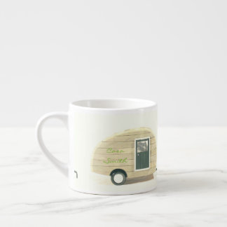 Vintage teardrop trailer gypsy caravan espresso cup