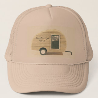 Vintage teardrop trailer  gypsy caravan trucker hat