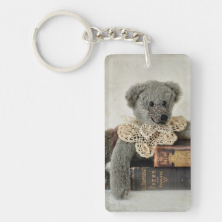 Vintage Teddy Bear Double Sided Key Chain