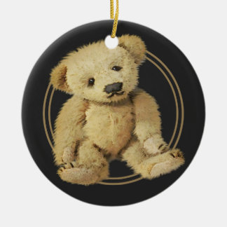 Vintage Teddy Bear Personalized Christmas Tree Ornaments