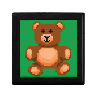 Vintage Teddy Bear - Pixel Art Gift Box