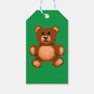 Vintage Teddy Bear - Pixel Art Gift Tags