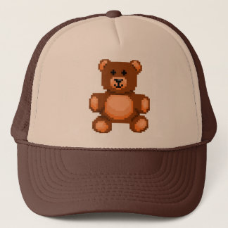 Vintage Teddy Bear - Pixel Art Trucker Hat