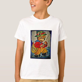Vintage Teddybear Fisherman T-Shirt