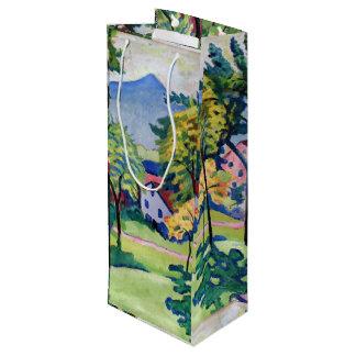 Vintage Tegernsee Landscape August Macke Wine Gift Bag