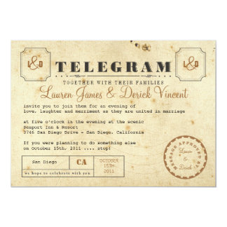 Vintage Telegram Invitation Postcard
