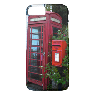 Vintage telephone booth and mail box iPhone 7 case