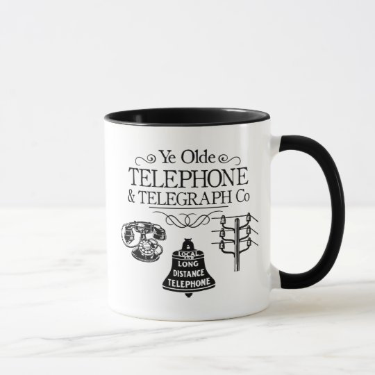 Vintage Telephone Company Mug