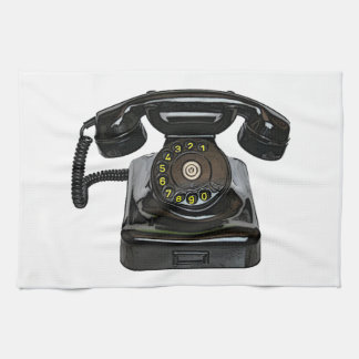 Vintage telephone Kitchen Towel