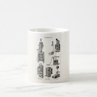 Vintage Telephones Illustration Phone Retro Phones Coffee Mug