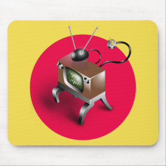 Vintage Television Design - Mouse Pad