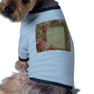 Vintage template,custom made,antique,floral,frame, doggie shirt
