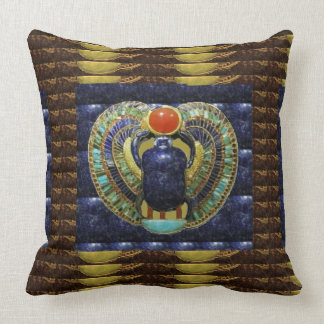 VINTAGE Temple Arts from Egypt PYRAMIDS Cushion