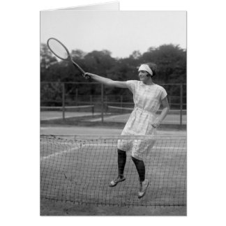Vintage Tennis Outfit, 1920s Card