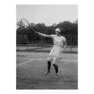 Vintage Tennis Outfit, 1920s Poster