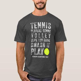 Vintage Tennis Players Gonna Play Cool Custom T-Shirt