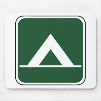 Vintage Tent Camp Sign Mouse Pad