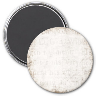 Vintage Text 1700 Background Paper Template Blank 7.5 Cm Round Magnet