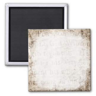 Vintage Text 1700 Background Paper Template Blank Square Magnet