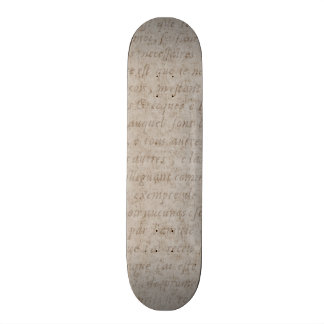 Vintage Text French Background Paper Template Skate Decks