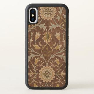 Vintage Textile Morris Little Flower GalleryHD Art iPhone X Case