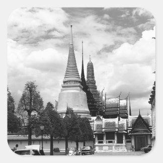 Vintage Thailand Bangkok Chapel Royal Palace Square Sticker