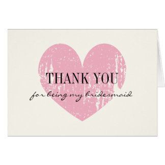 Vintage Thank you for being my bridesmaid cards