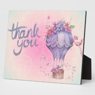 Vintage Thank You Hot Air Balloon Plaques