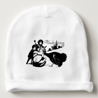 Vintage Thanksgiving Baby Beanie
