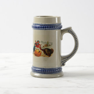 Vintage Thanksgiving Beer Stein