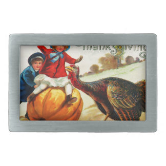 Vintage Thanksgiving Belt Buckle