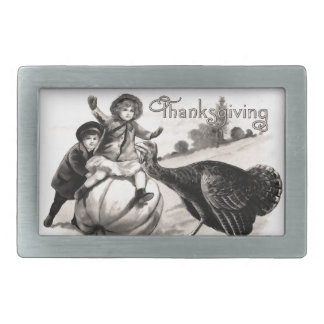 Vintage Thanksgiving Belt Buckles