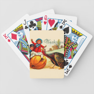 Vintage Thanksgiving Bicycle Playing Cards