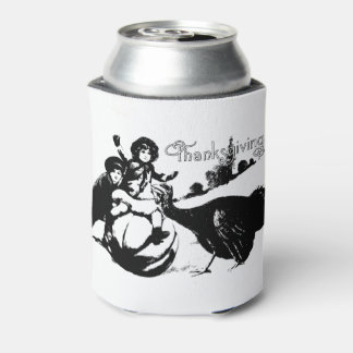 Vintage Thanksgiving Can Cooler