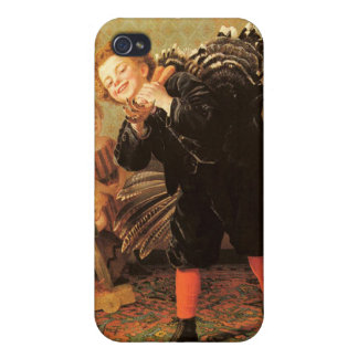 Vintage Thanksgiving Children & Turkey iPhone 4 Cover