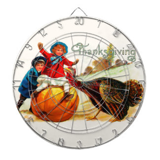 Vintage Thanksgiving Dartboard