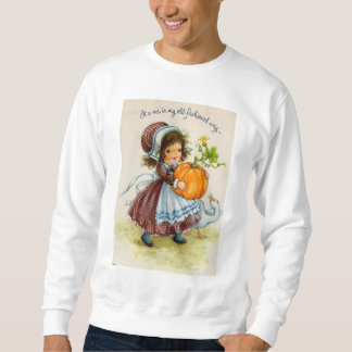 Vintage Thanksgiving Day Girl Sweatshirt